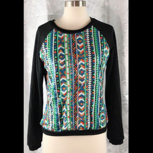 Anthropologie Lulumari Sequin Sweater Sz S